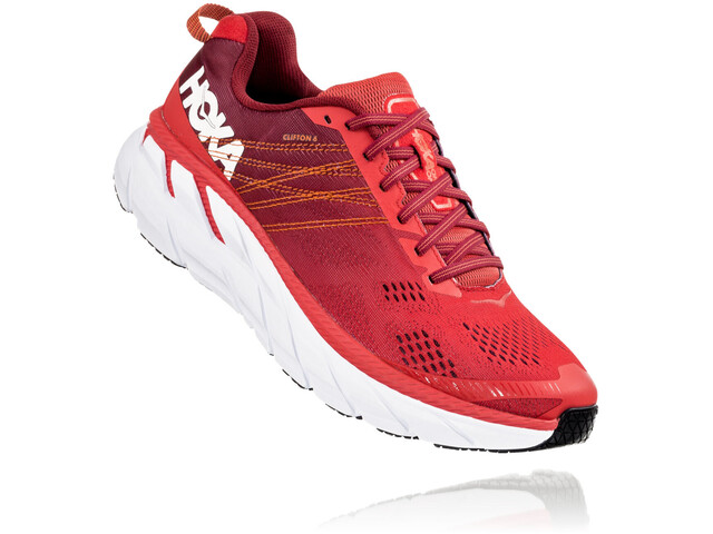 Hoka One One Clifton 6 Buty do biegania Mężczyźni, poppy red/rio red